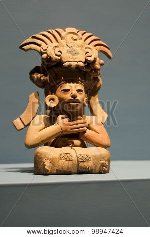Zapotec God Monte-alban Oaxaca Mexico