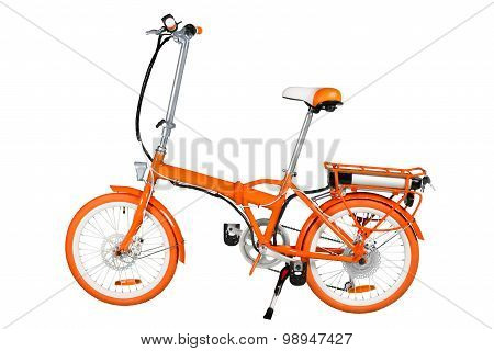 Orange Electric Bike