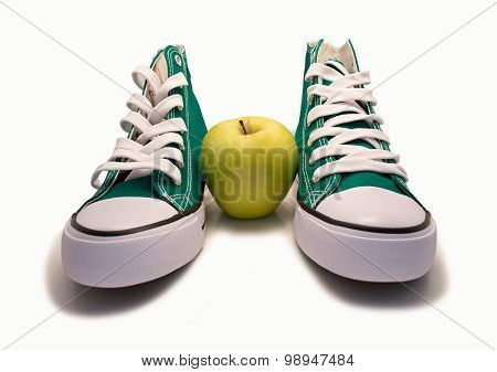 Sneakers And An Apple