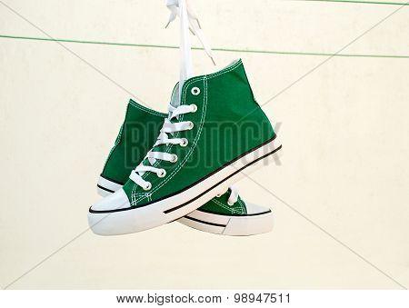 Sneakers Tied