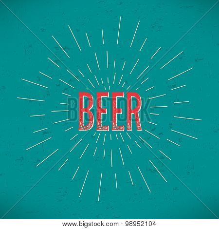 Abstract Creative concept vector design layout with text - beer. For web and mobile icon isolated on