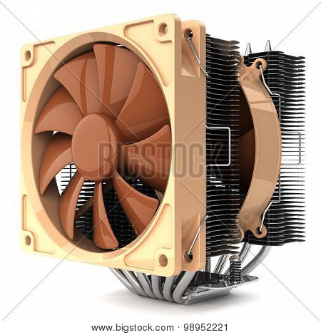 Cpu Fan Cooler For Pc Isolated On White Background 3D