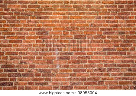 Solid Rustic Red Bricks Wall Surface
