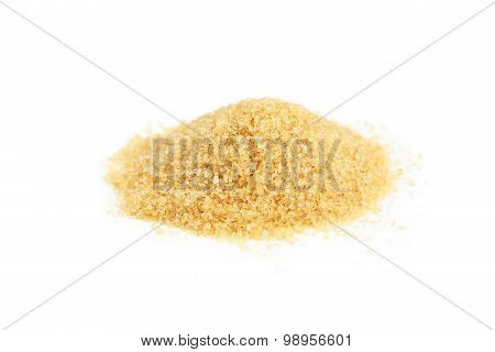 Brown Sugar Isolated On White