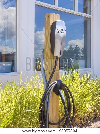 electric car charging station.