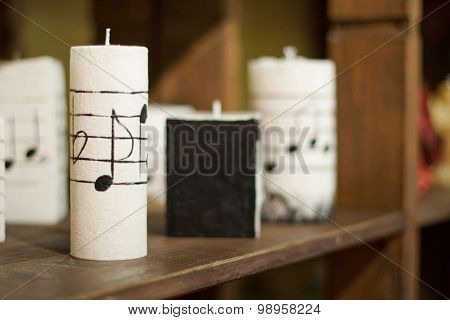 Some Candles In Candel Shop