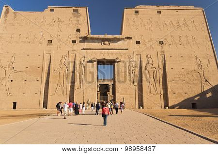 Front View Of The Edfu Temple (egypt)