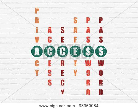 Privacy concept: word Access in solving Crossword Puzzle