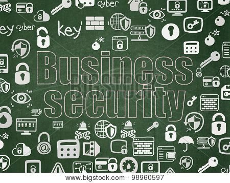 Privacy concept: Business Security on School Board background