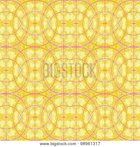 Seamless ellipses pattern yellow violet
