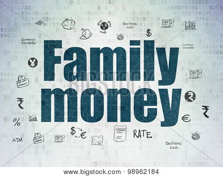 Currency concept: Family Money on Digital Paper background