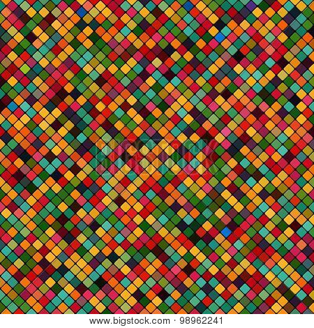 background abstract mosaic of the grid pixel tiles colorful squares. vector illustration