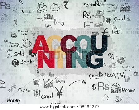 Money concept: Accounting on Digital Paper background