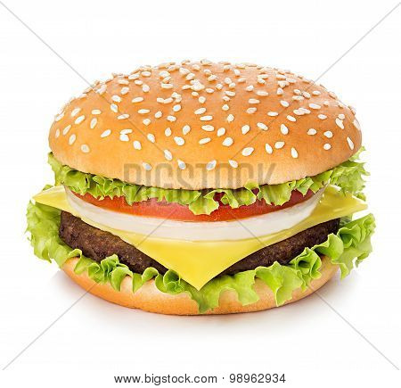 Hamburger Isolated On White Background