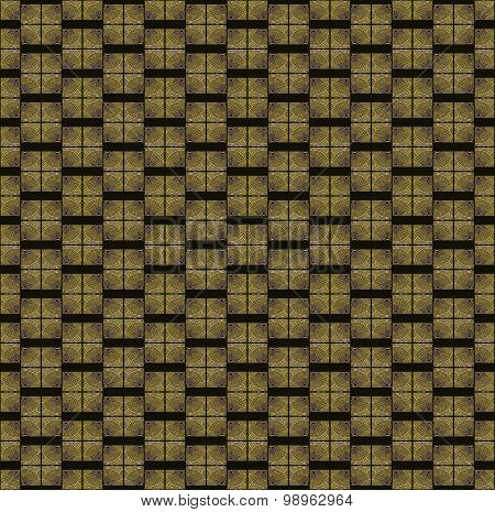 Seamless square pattern black brown