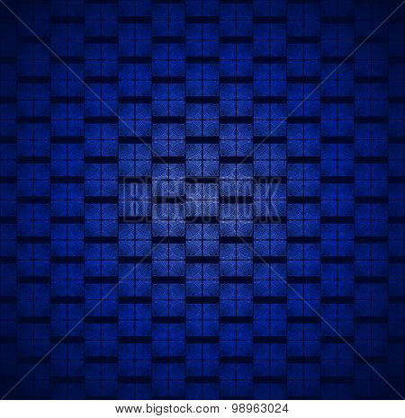 Seamless square pattern blue black blurred