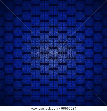 Seamless square pattern blue black blurred