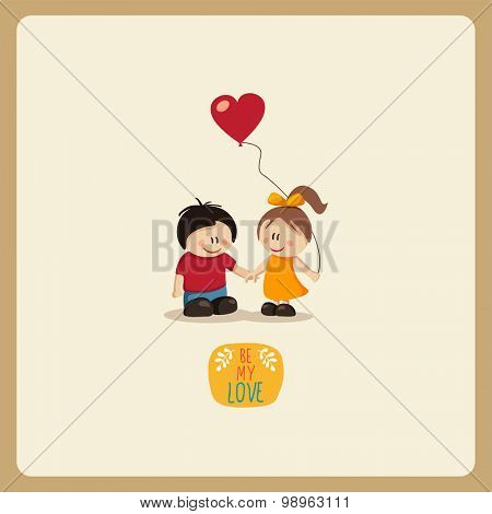 Boy  and Girl in Love.vector