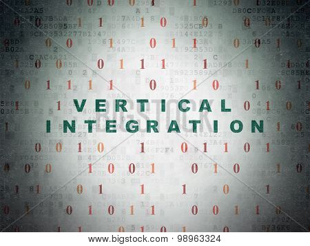Business concept: Vertical Integration on Digital Paper background