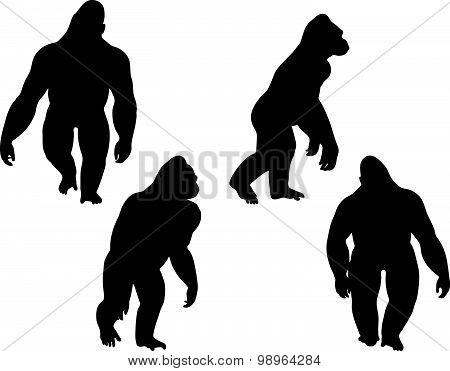 Gorilla Silhouette