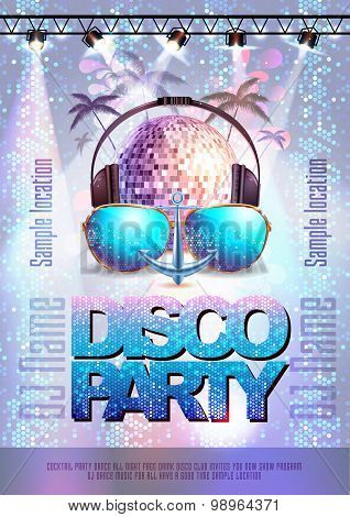 Disco Background. Disco Party Poster