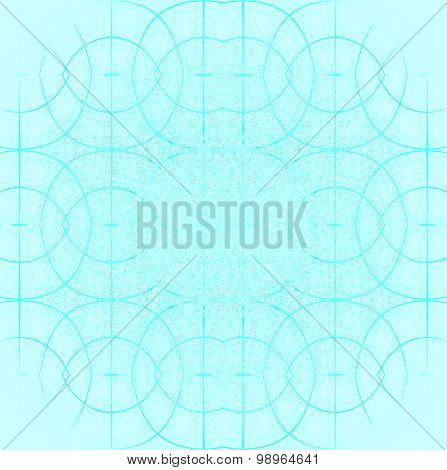 Seamless ellipses pattern turquoise blurred