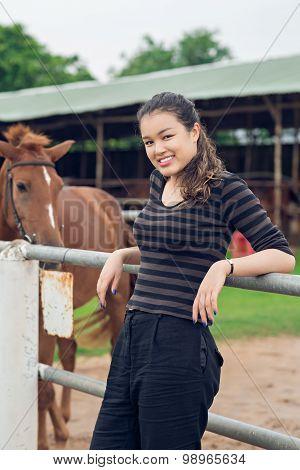 Cheerful Cowgirl