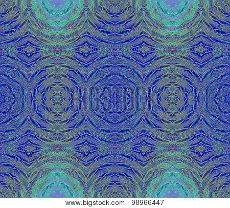 Seamless circles pattern blue turquoise