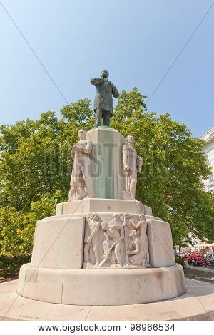 Monument To Karl Lueger (1926) In Vienna, Austria