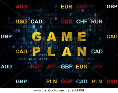 Business concept: Game Plan on Digital background
