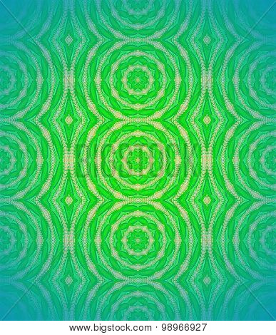 Seamless circles pattern green blue