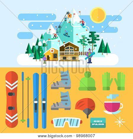 ski illustrations