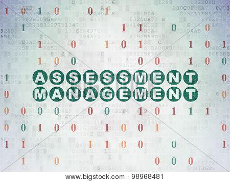 Business concept: Assessment Management on Digital Paper background