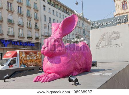 Pink Hair Sculpture (2003) In Vienna, Austria