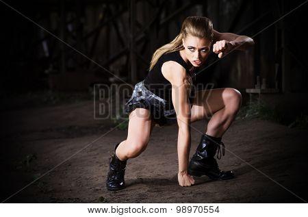 Young woman in uniform (dark ver)