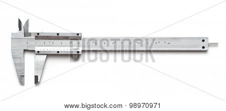 Vernier caliper on a white background