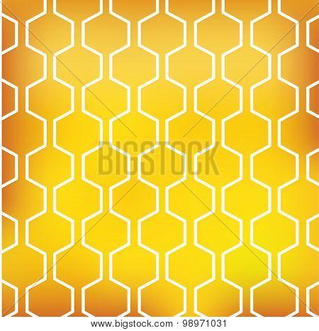 honey pattern on yellow background