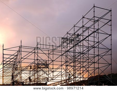 Large Scaffolding For Outdoor Concert