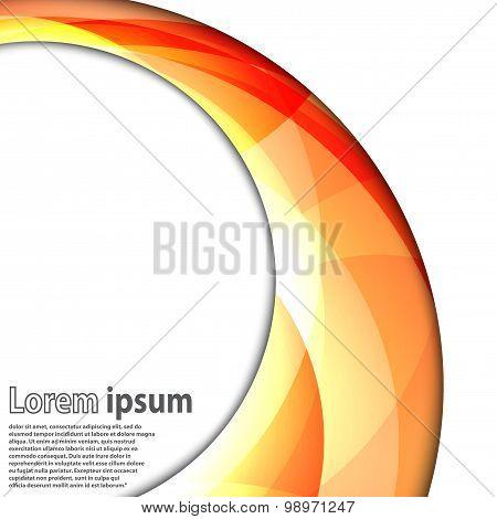 Abstract Swirl Energy Orange Circle