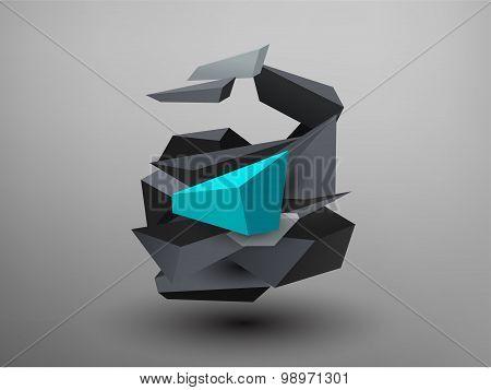 3D Prism Font - A
