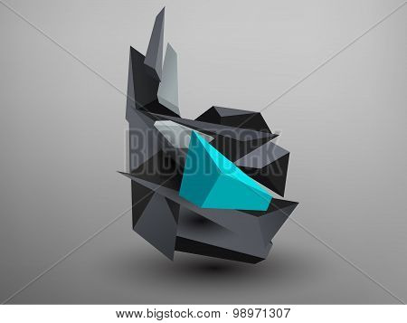 3D Prism Font - B