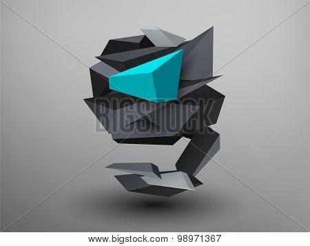 3D Prism Font - G