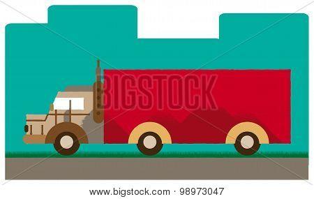 Retro Truck Transportation