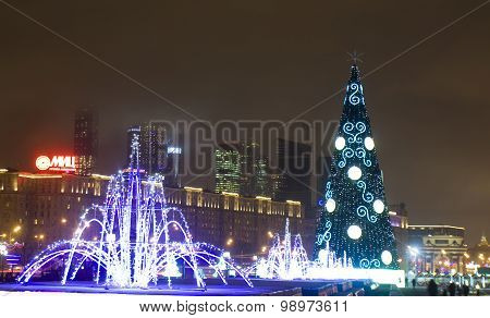 Christmas Illumination In Moscow
