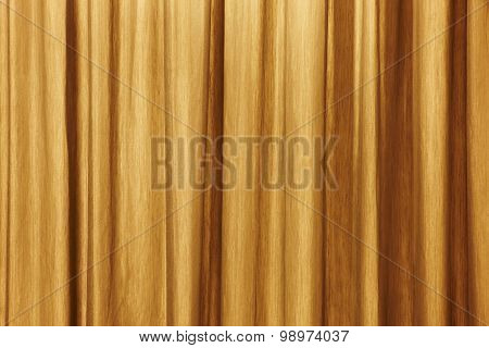 Curtain Background Detail With Waves In Warm Tone