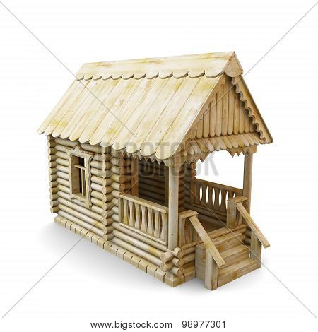 Wooden House From Logs
