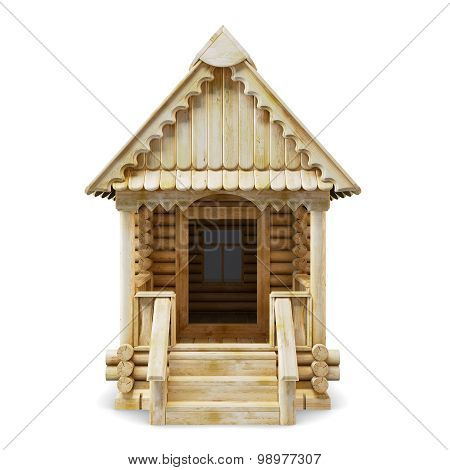 Wooden House Front View