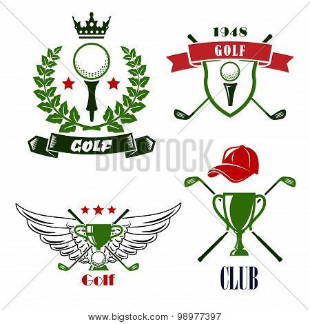 Golf club or tournament heraldic emblems
