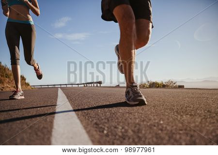 Young Athletes Running Outdoor