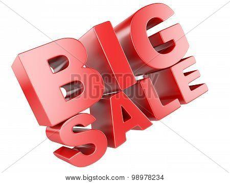 3D Render Of Big Sale Word
